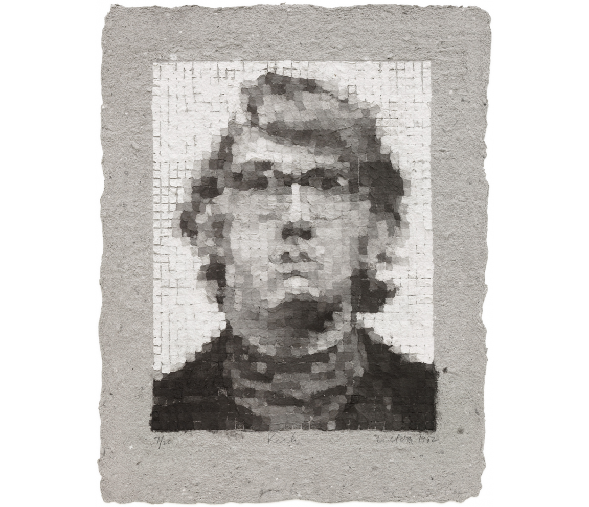 """Keith V"" (1981) by Chuck Close"