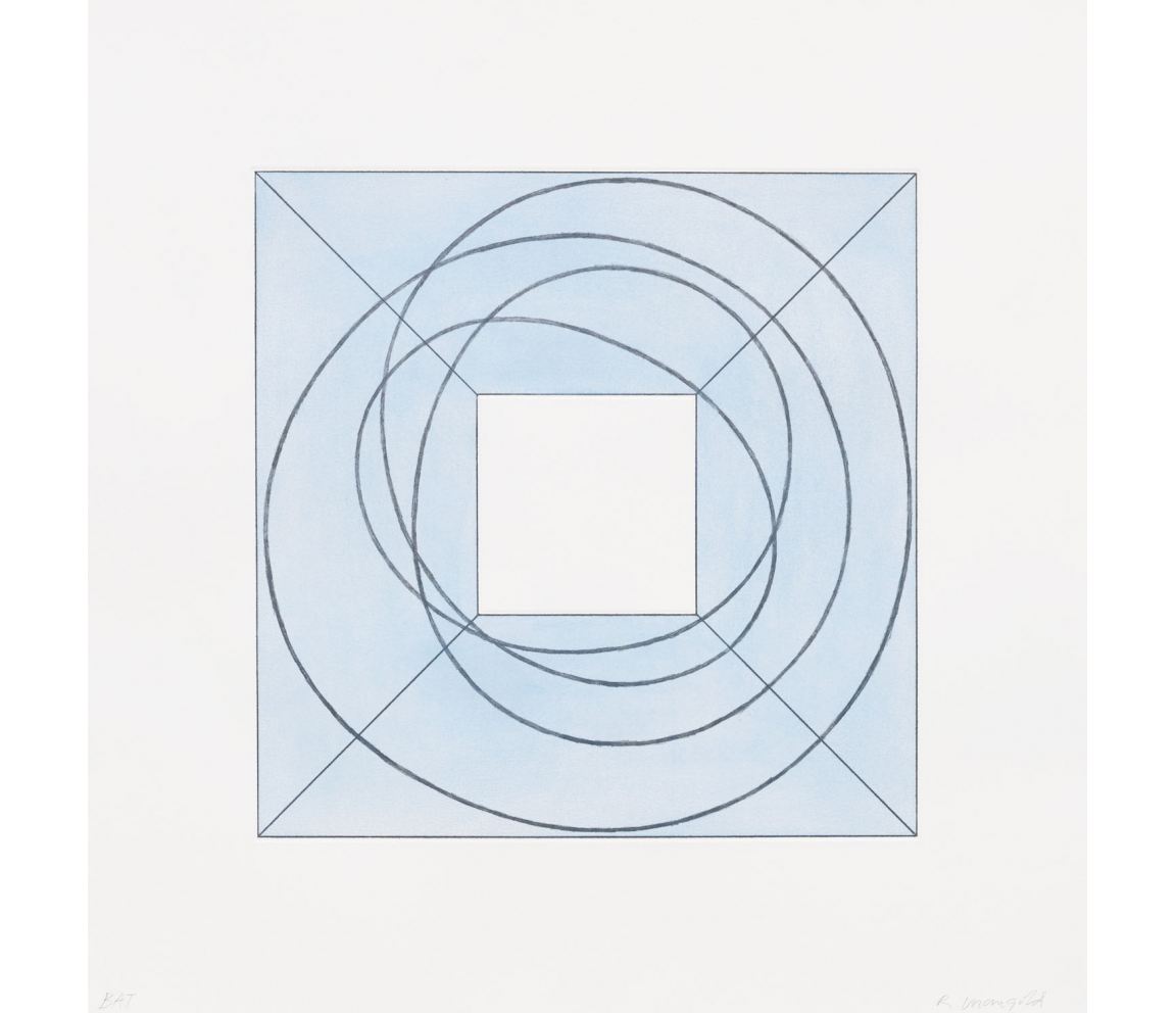 """Framed Square with Open Center B"" (2013) by Robert Mangold"