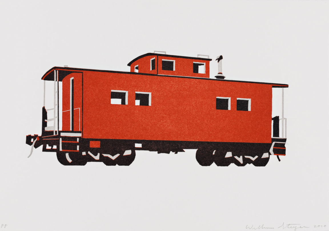 """Red Caboose"" (2010) by William Steiger"